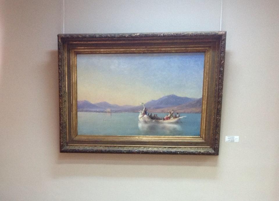 В музее представлено одно из самых больших собраний работ самого известного в мире мариниста Ованеса Айвазовского