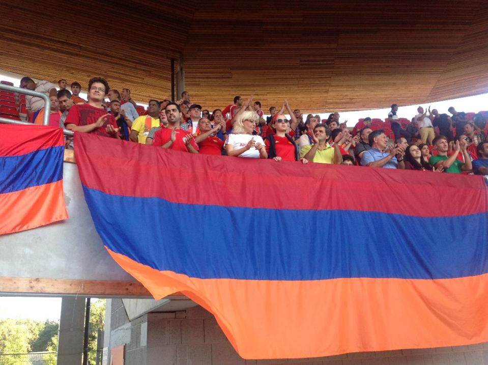 Матч Чехия - Армения, армянский фан-сектор